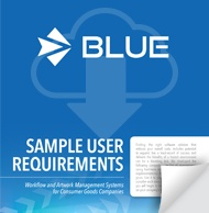 Consumer Goods Sample User Requirements